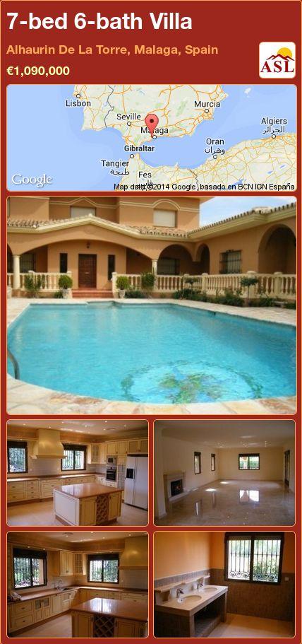 7-bed 6-bath Villa in Alhaurin De La Torre, Malaga, Spain ►€1,090,000 #PropertyForSaleInSpain