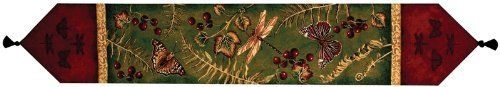 Manual Woodworkers & Weavers Table Runner, Flora and Fauna by Manual Woodworker,