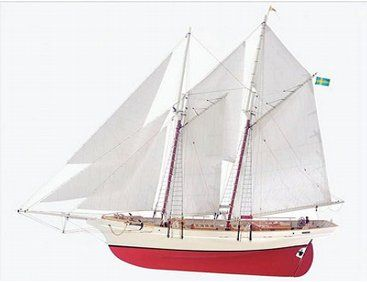 The Billing Boats 1/20 Vanadis Schooner wooden ship model measures 158cm long, 130cm high and 26cm wide. This wooden boat kit is highly realistic with many fine details.