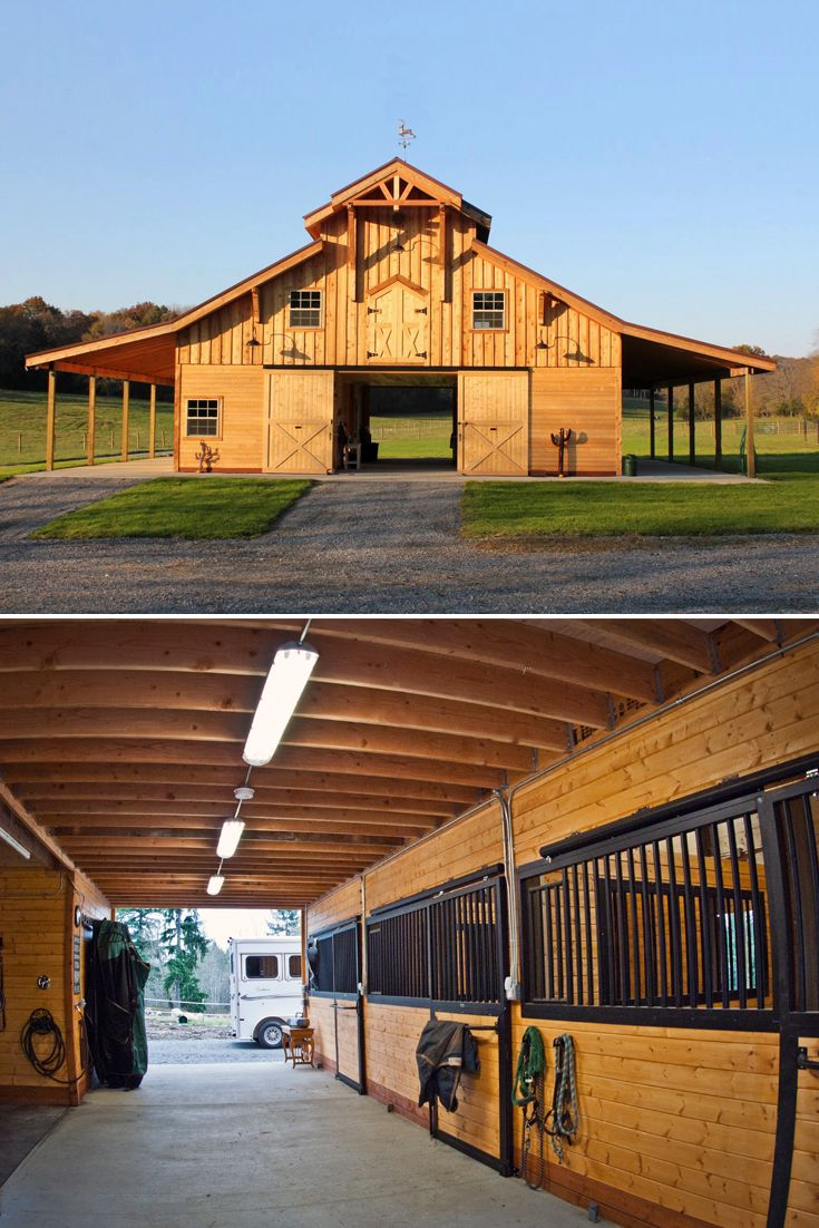 did you know costco sells barn kits order a pre engineered traditional wood barn horse barn designshorse - Horse Stall Design Ideas