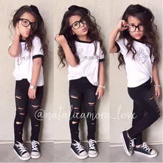 baby girl wearing converse