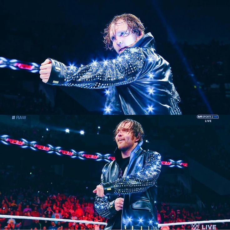 OMG Dean Ambrose looks so ovary exploding hot in Chris Jericho's jacket!