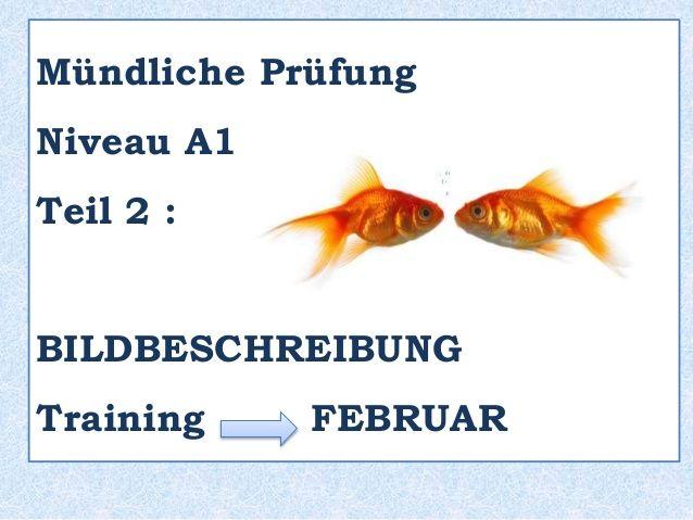 A1 TRAINING - Februar  Mündliche Prüfung - Teil 2 : BILDBESCHREIBUNG