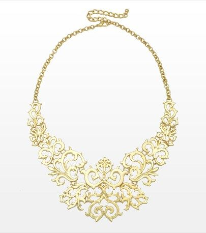 #DYNHOLIDAY Chic and sexy! This baroque statement necklace will make your little black dress pop! Pair it with golden heels.