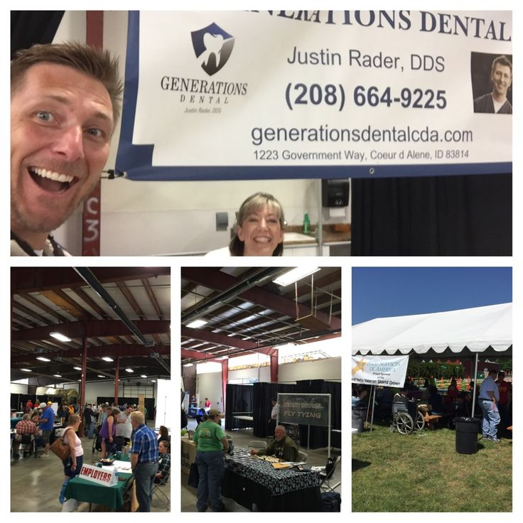 Veteran Stand down event volunteering at Kootenai County Fairgrounds. With Shaun Whitney, DDS, MS and Brandi Felts
