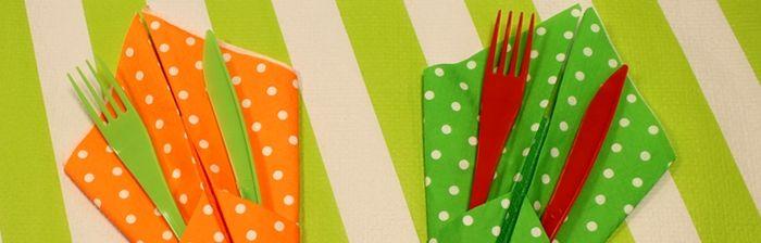 [TUTO] Un pliage de serviette en porte-couverts bien pratique ! - Mesa Bella Blog