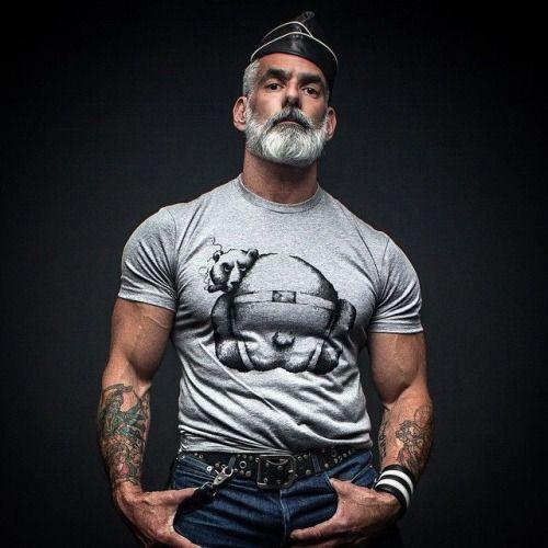 Fetish man  Silver Fox  in 2019  Pinterest  Mnner Brte und Vollbart