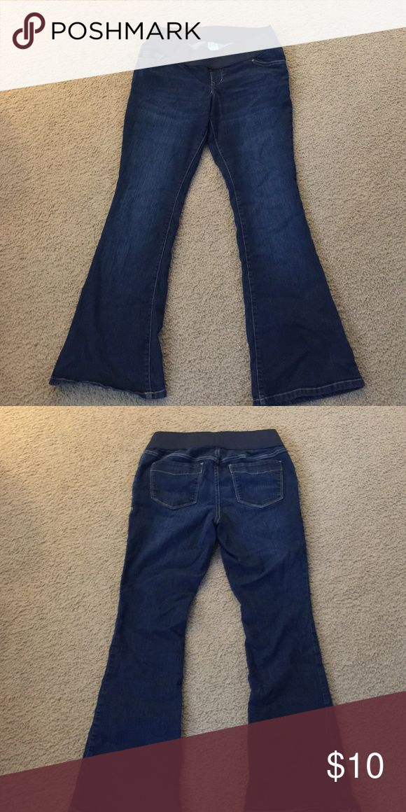 Old navy Maternity jeans Maternity stretch jeans with elastic band around waist size 12 Old Navy Jeans
