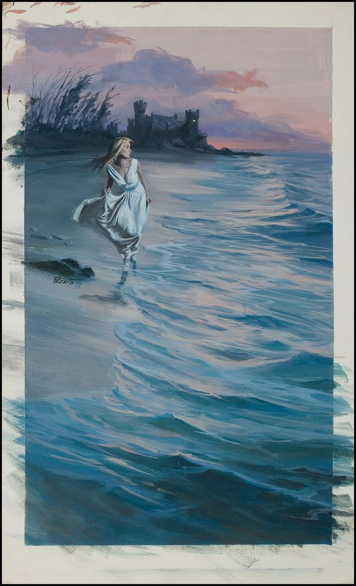 Watercolor book covers - Gothic Novel Cover Art