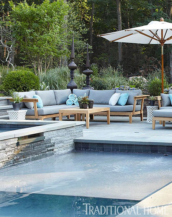 LLLLOVE this one Hampton Designer Showhouse 2013 | Traditional Home. Modern pool