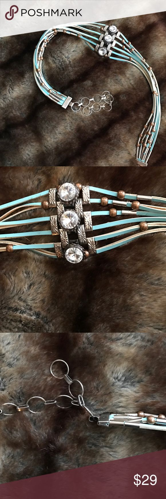 "Gorgeous boho leather belt Gorgeous boho leather belt, 38 1/2"" long, including extender, pja0 Accessories Belts"