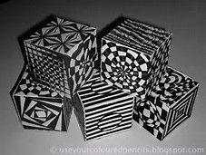 op art cubes template - Bing Images