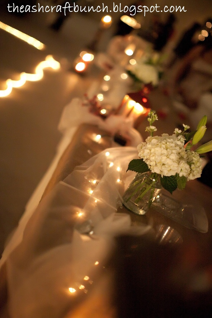 Wedding decorations tulle and lights   best Vintage Rustic Winery Love images on Pinterest  Marriage