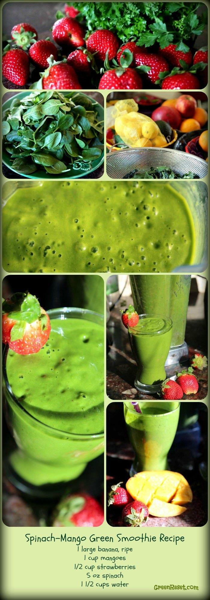 Spinach Mango Green Smoothie