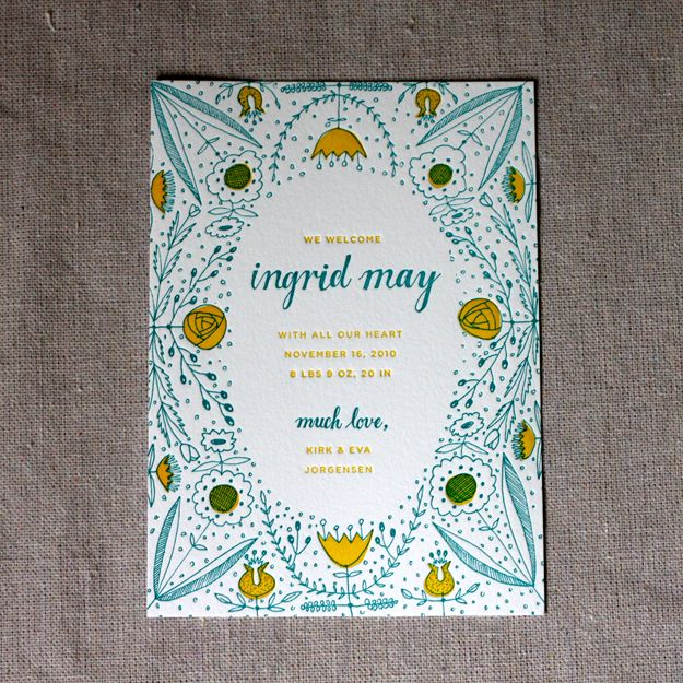 Ingrid's Birth Announcement by Sycamore Street Press