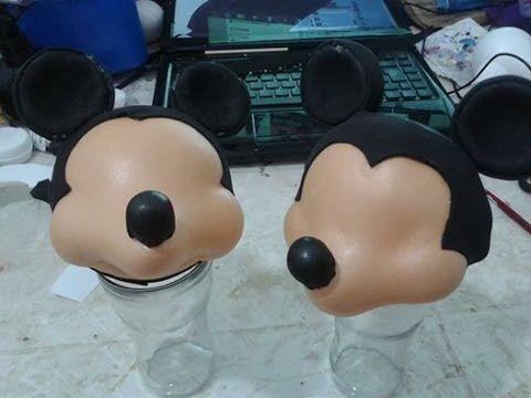 Como fazer o Mickey esculpido em eva 3d parte I By Vivian Balaban
