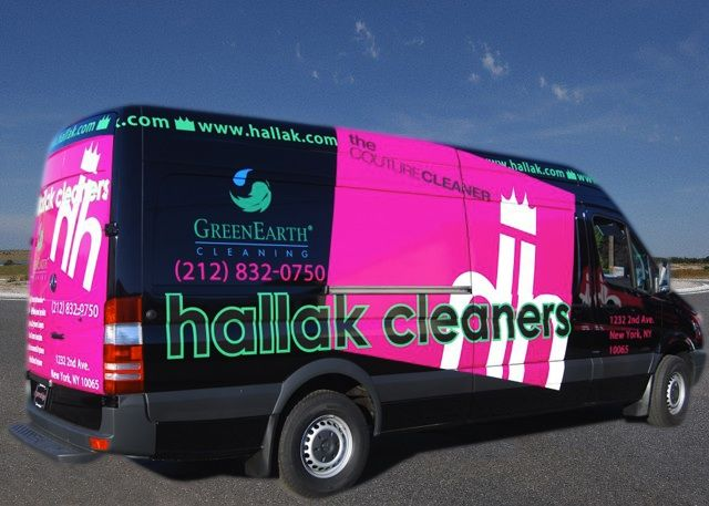 Honk if you think we're #pretty! #Drycleaning with a #fashion flair. Do you like our newest van design? Complimentary pick up and delivery in #Manhattan, #Bergen, #Greenwich & #Westchester.