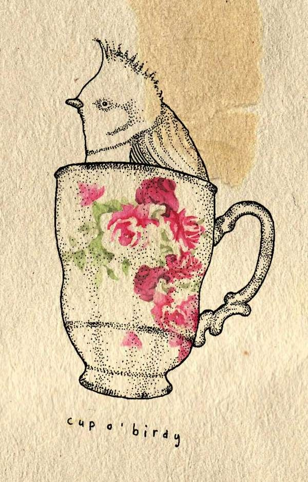 Cup o' birdy by Kate Wilson