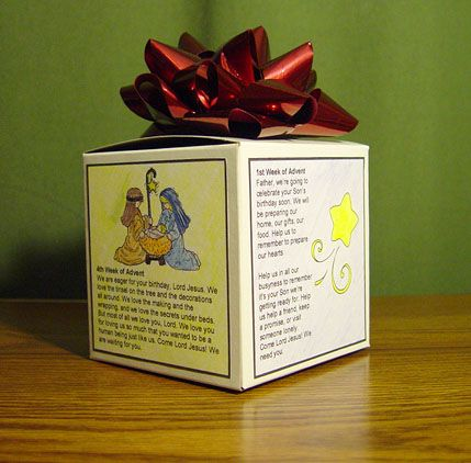 Advent Prayer Cubes- this was our new activity for this year.