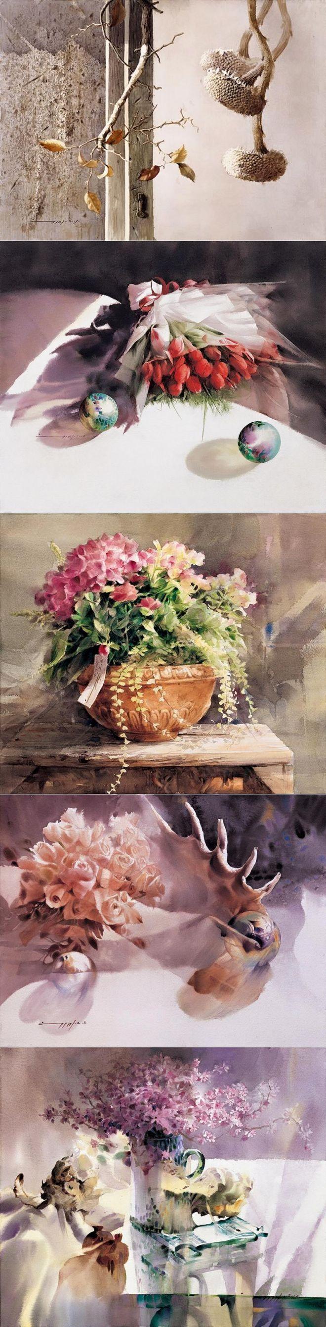 Акварель – один из самых поэтичных видов живописи. Художник You Mee Park.