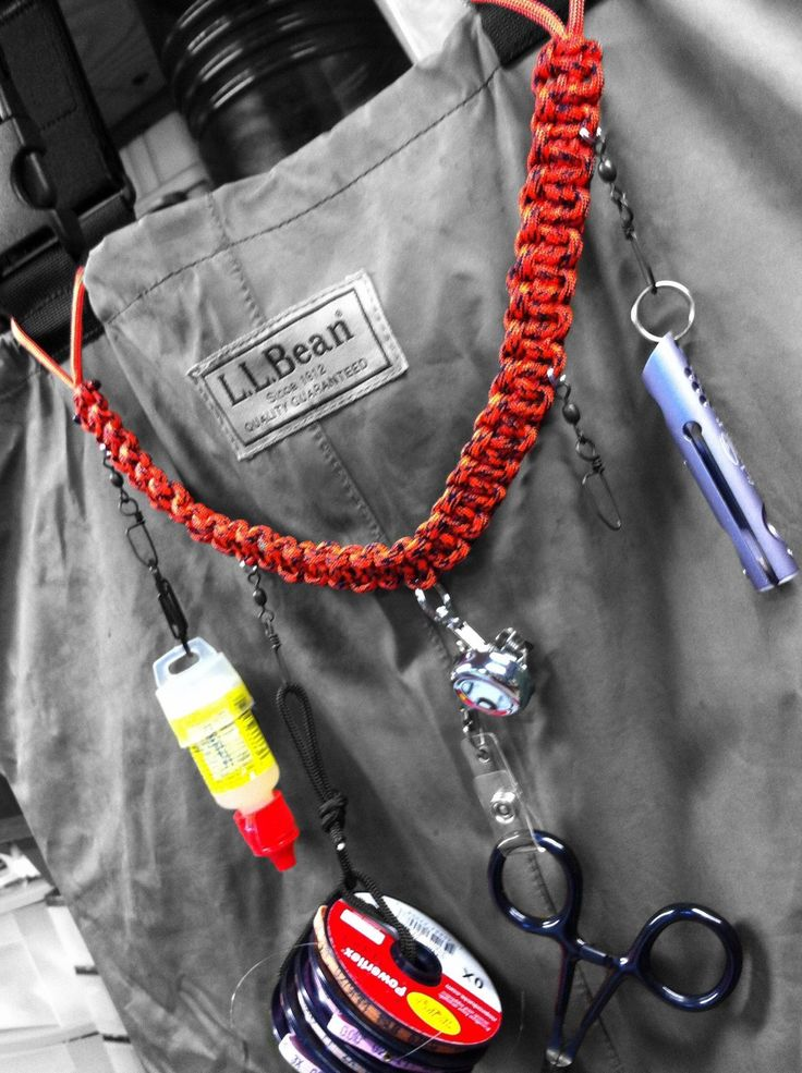 A fishing lanyard can be a convenient and fashionable method of keeping your most frequently used gadgets close at hand.  I wanted a versatile lanyard that I