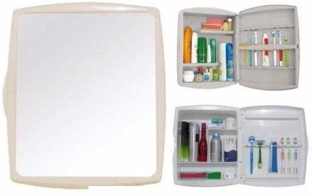 armario / botiquín de baño plástico con espejo. 38x32x10 cm.