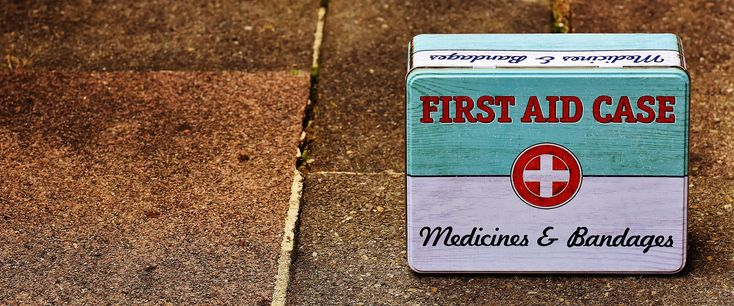 If you don't have a first aid case, then we really don't know what to tell you. This is one of the most important things to have in your house.