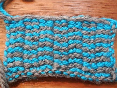 VIDEO- New loom knit stitch created by Doyle Dark. Similar to the linen stitch except that when you do a slip working yarn in front (sl wyif) you ewrap the PEG