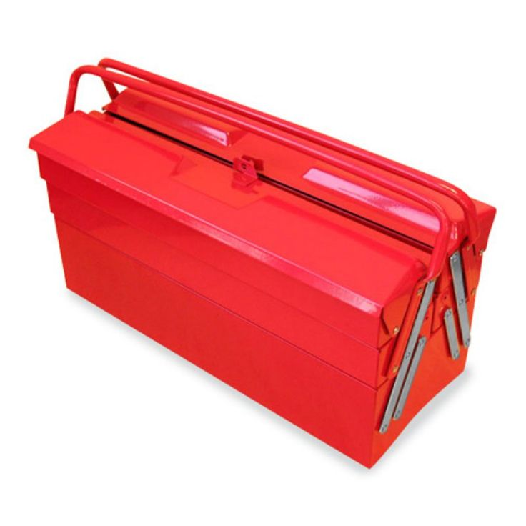 Excel 5 Compartment Cantilever Tool Box Red - TB122B-RED