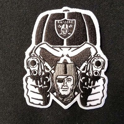 Oakland raiders patches.. RNFL.. raider nation gangsta Oakland Raiders