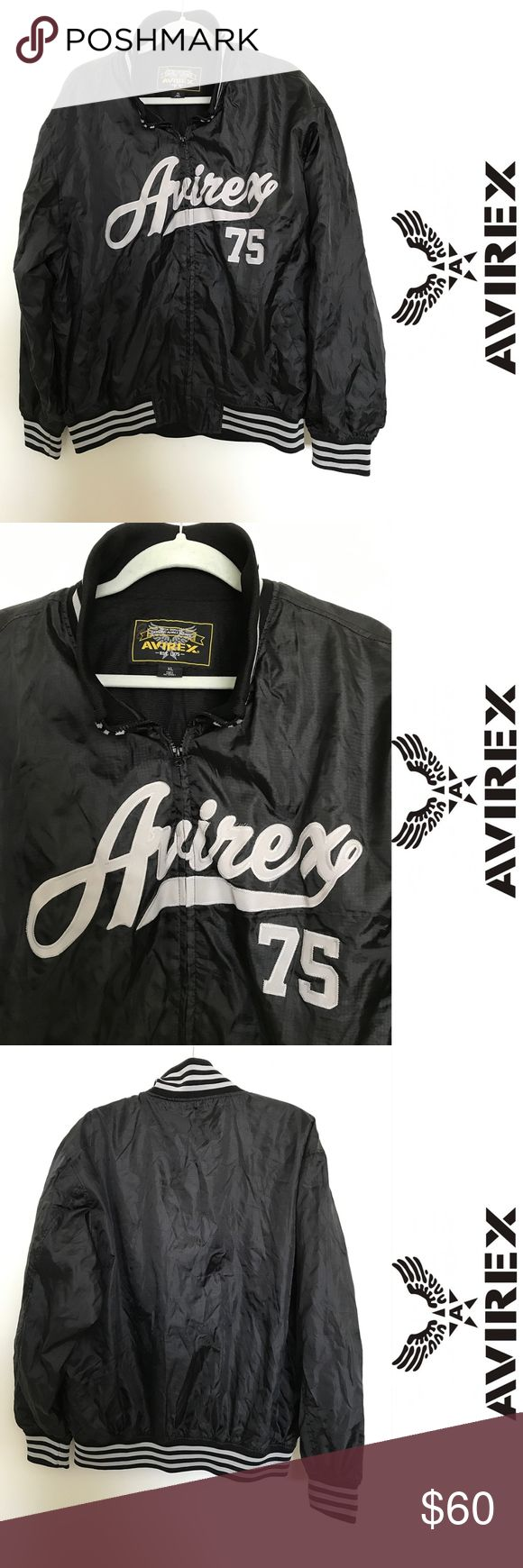 """Avirex Air Force bomber / varsity jacket - size XL In excellent condition and super cooooool! Love it so much (=  Size XL Measurements: Chest: 52"""" Length: 30"""" Avirex Jackets & Coats Bomber & Varsity"""