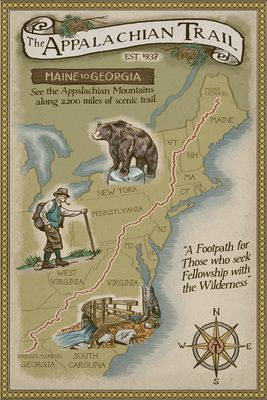 Image Result For Appalachian Trail Map Framed