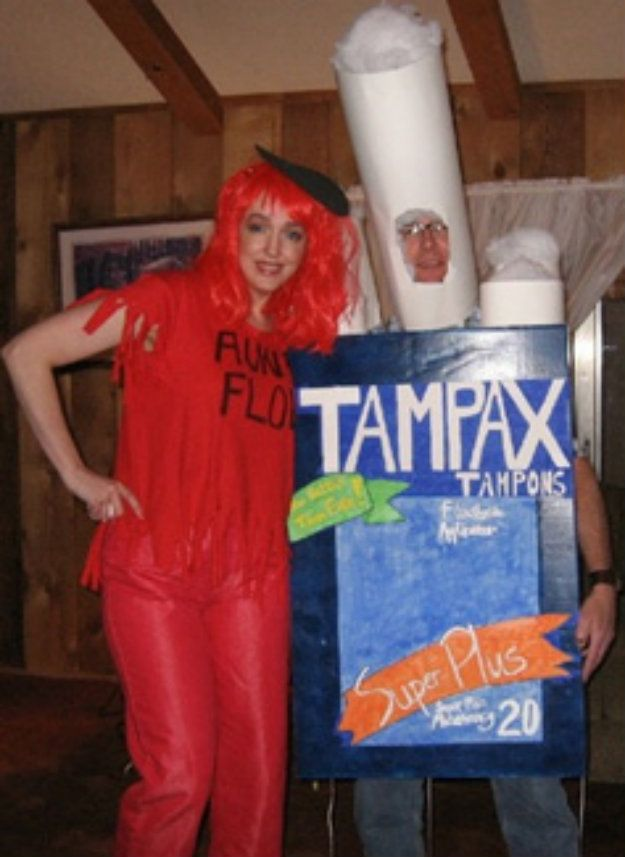 """Tampon And """"Aunt Flow""""   19 Incredibly Creepy Couples Costumes"""