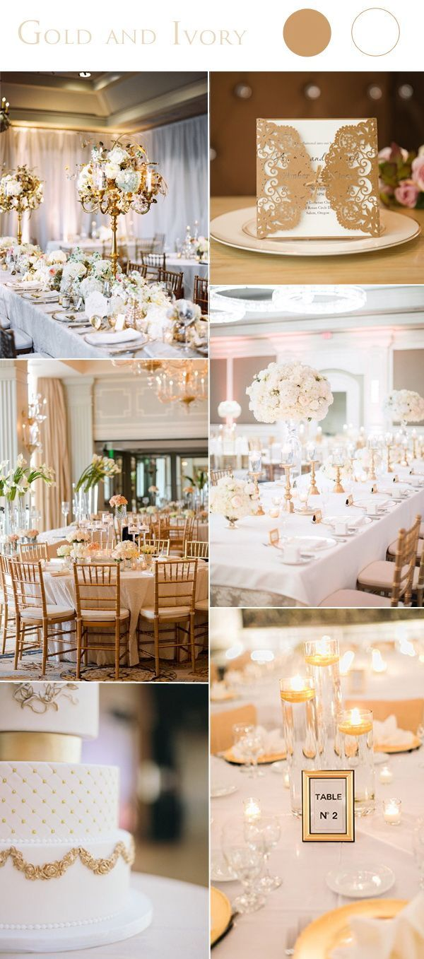 2017 Wedding Color Scheme Trends Gold and
