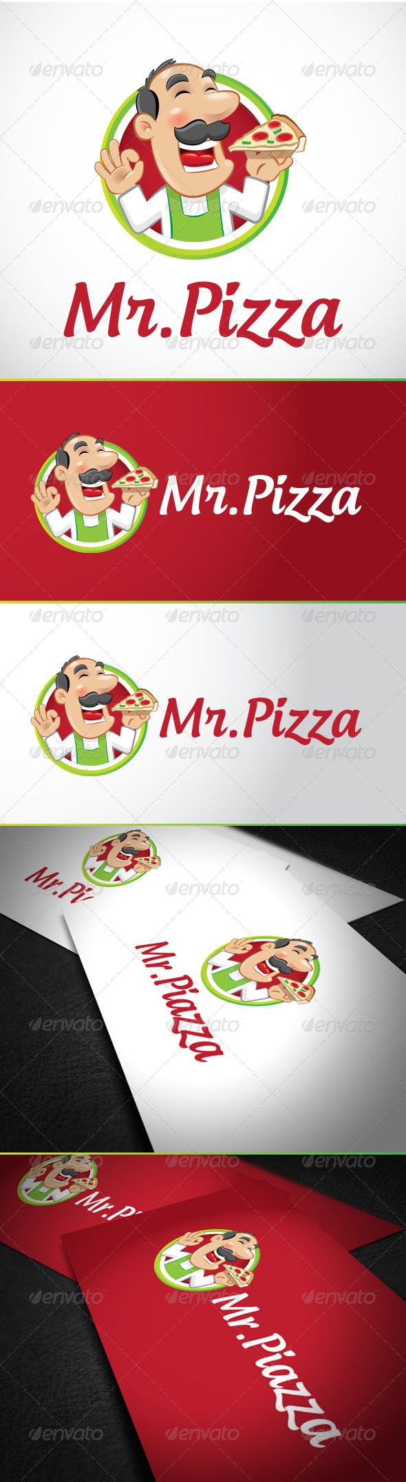 Mr Pizza Logo Template by Peregrino96 Easy to edit with organized layers. Vector logo Resisable; Vector Horizontal and Vertical display; Symbol files high resolution; S
