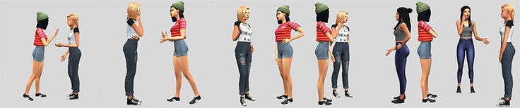 """stargirl-sims-cc: """" Conversationals - A casual talking pose set AAAAA my first ever pose pack! This is something I've been working on for well over a month and I'm super excited to finally get to..."""
