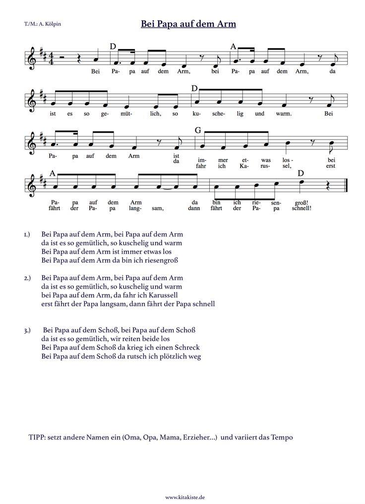 """""""Bei Papa auf dem Arm"""" - ein Spiellied für Eltern und Erzieher - setzt andere Namen ein und spielt Knierreiter, Karussell oder Flugzeug"""