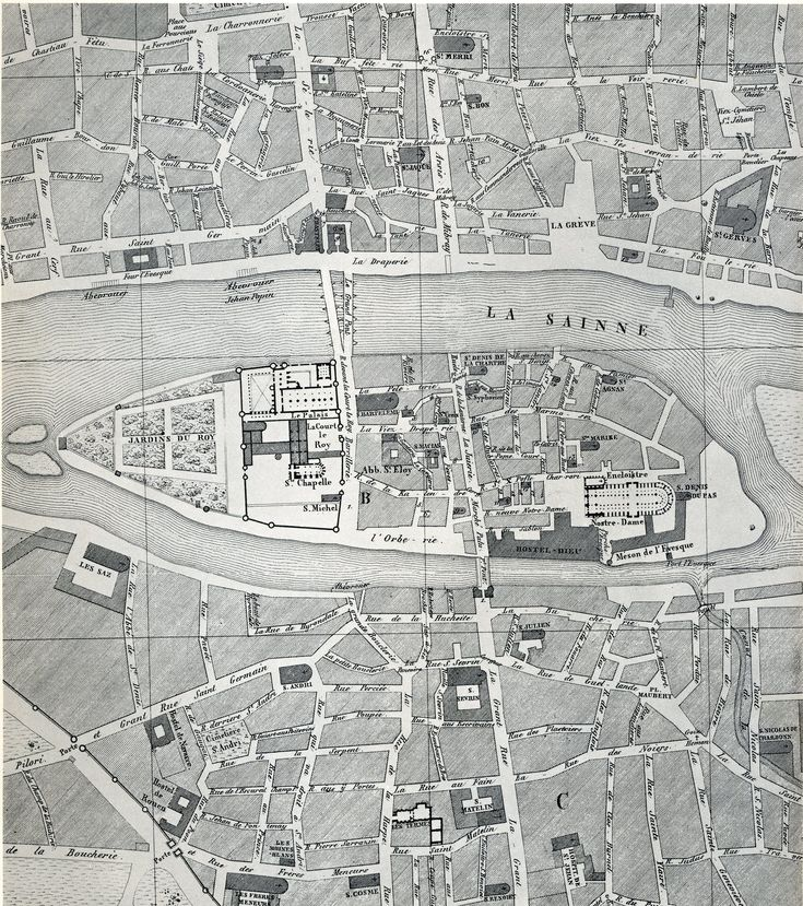 medieval paris map