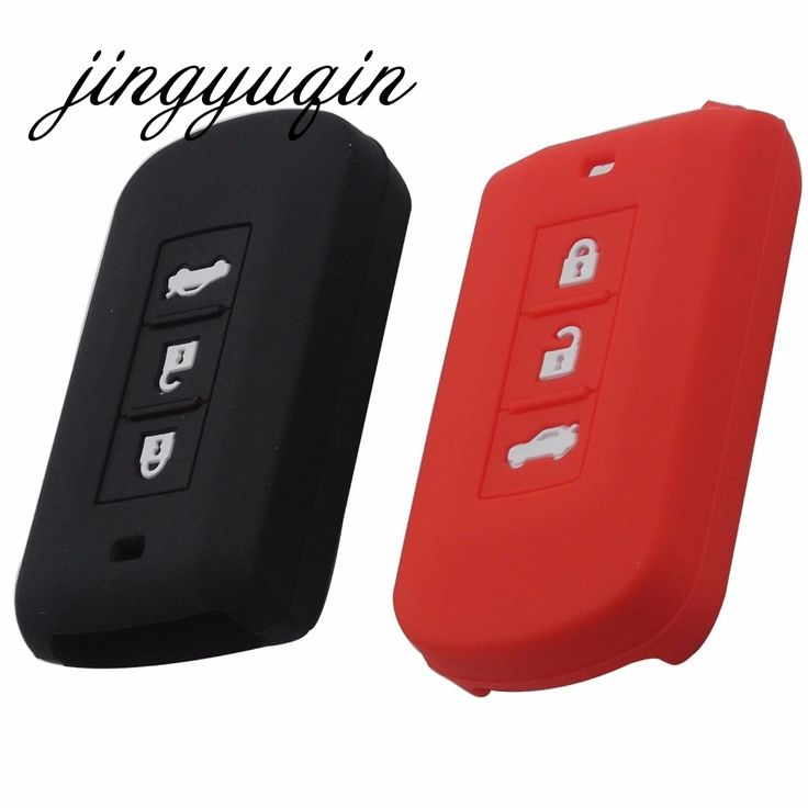 1.05$  Watch now - Silicone Cover Auto Key Case for Mitsubishi ASX Lancer 10 outlander 2013 2014 Colt Grandis Pajero Smart Remote   #bestbuy