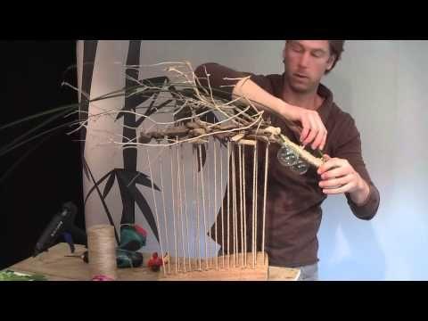 Voorjaarsarrangement Frits Hoogers video laspinnen omwikkeld met jutetouw driftwood