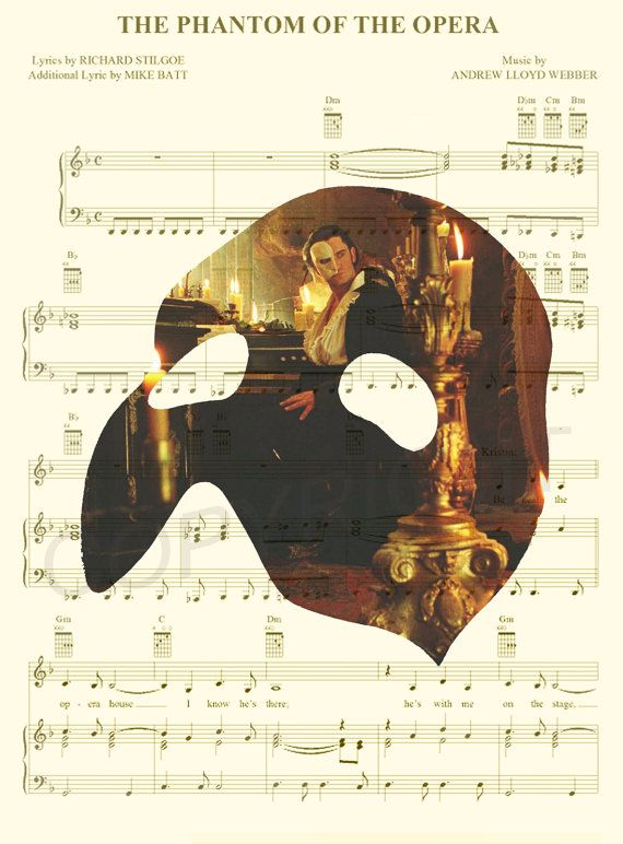 Phantom of the Opera Art Print by AmourPrints on Etsy