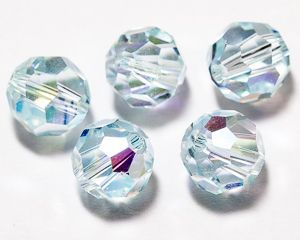 ID3354 - 8mm Light Azore AB Swarovski® Crystal Round Beads (Article 5000)(1)