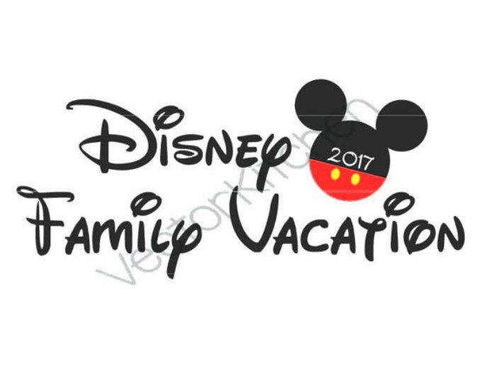 Vacaciones de la familia Disney, Mickey 2017, DIY, imprimible hierro en transferencia, DIY camisas o Clip Art