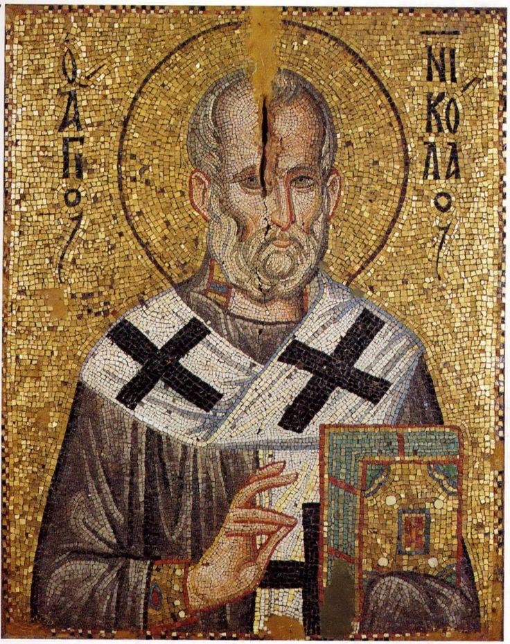 Мозаика из монастыря Ставроникита. XIII в. Афон, Греция