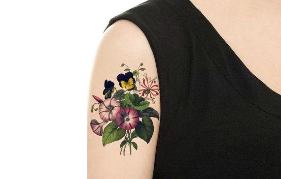 Tatuaggio temporaneo  4 modelli di Vintage Floral di TattooNbeyond