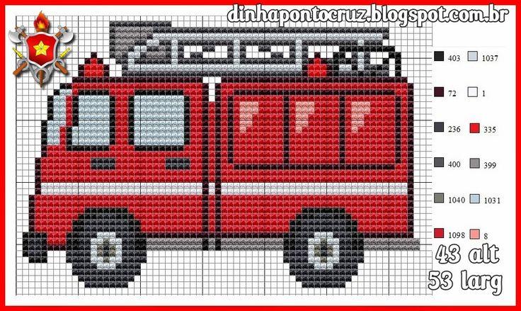 Fire truck pattern by Dinha Ponto Cruz
