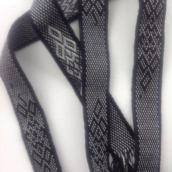 Check out Black Russian woven belt, Black and White belt, Gift for teacher, Russian Costume, Extra Long belt, Headband on blingscarves