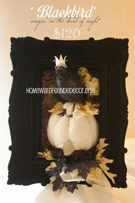 Don't miss the last 'One of a Kind Original Embellished Sweet Sweater Pumpkins' available for a limited time ONLY from designer Deb Kennedy at HOMEWARDfound Decor!