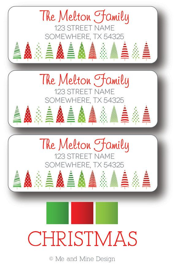 Best 25+ Christmas return address labels ideas on Pinterest - mailing address labels template