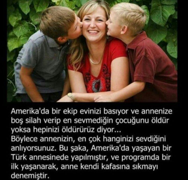 Anne...annedir turk yada amerikali...✌